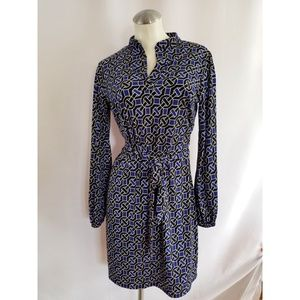 Laundry by Shelli Segal Size S Belted Dress Blue